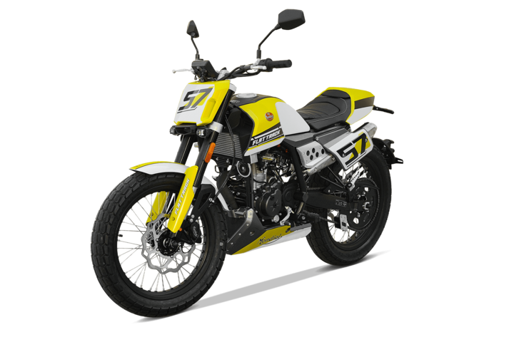 Bikes 125ccm - F.B Mondial FLAT TRACK 125i ABS in yellow | Ansicht 4