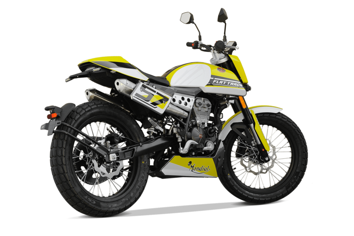 Bikes 125ccm - F.B Mondial FLAT TRACK 125i ABS in yellow | Ansicht 8