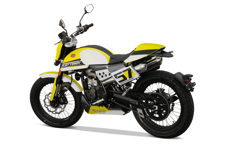 Bikes 125ccm - F.B Mondial FLAT TRACK 125i ABS in yellow | Ansicht 6