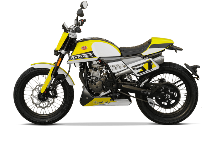 Bikes 125ccm - F.B Mondial FLAT TRACK 125i ABS in yellow | Ansicht 5