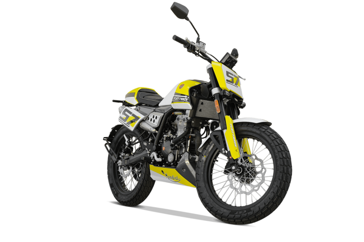 Bikes 125ccm - F.B Mondial FLAT TRACK 125i ABS in yellow | Ansicht 2