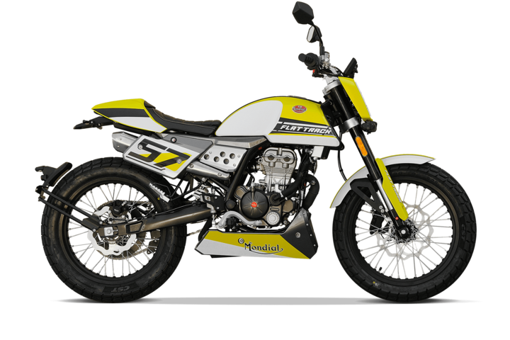 Bikes 125ccm - F.B Mondial FLAT TRACK 125i ABS in yellow | Ansicht 1